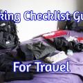 travel checklist guide