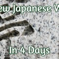 Learning Japanese wk 4
